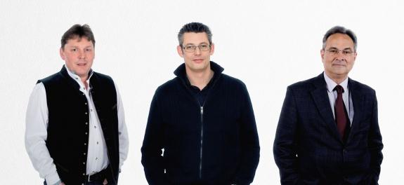 v.l.n.r. Oliver Csirits, Stefan Winkelbauer und Peter Nassey
