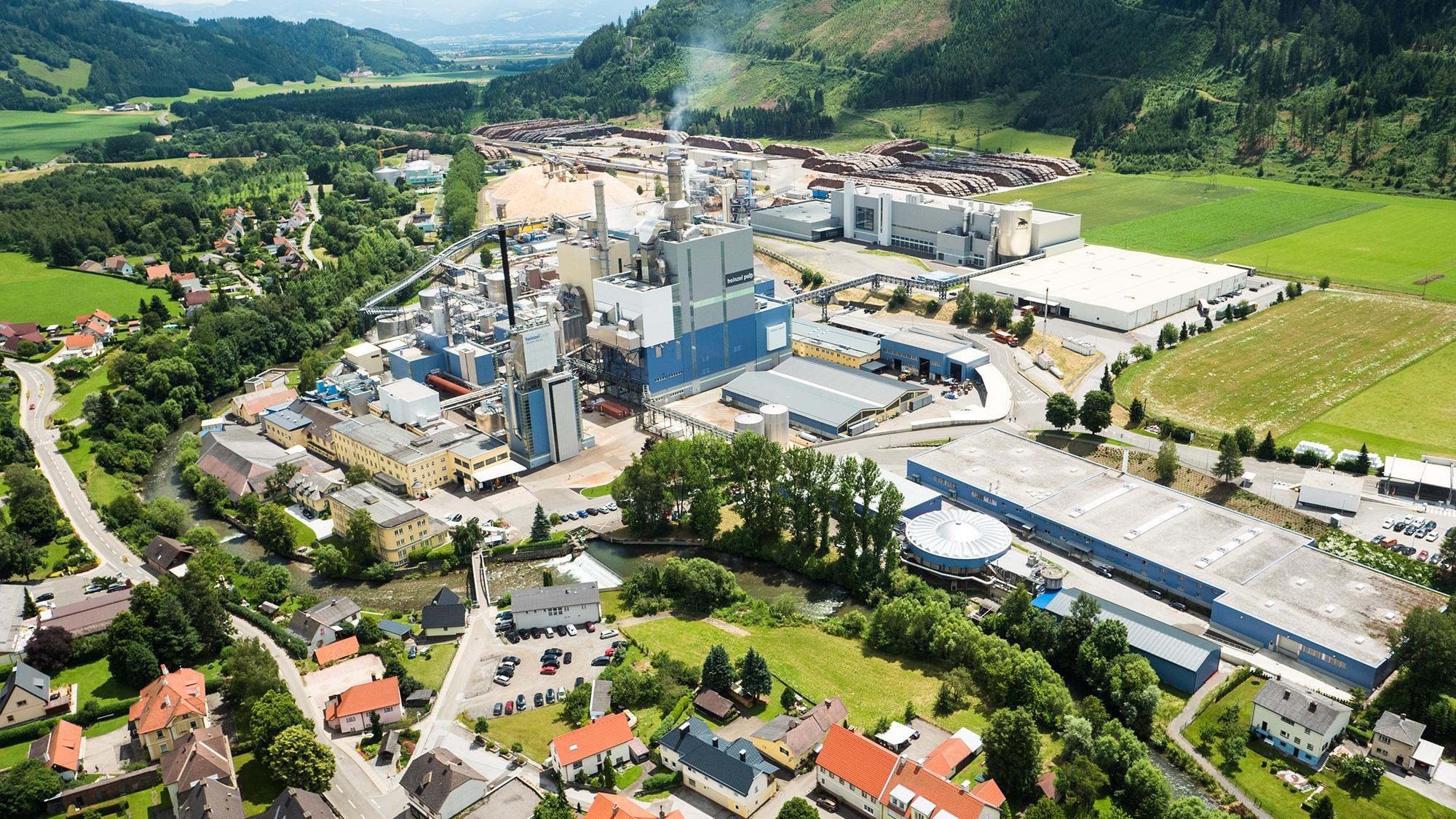 Das Werksgelände der Zellstoff Pöls AG