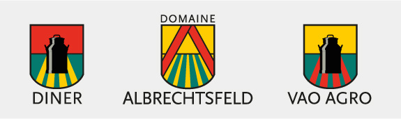 Logo Domaine Albrechtsfeld, Diner AS und Vao Agro AS